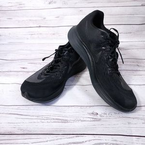 Nike mens Zoom fly sneakers black size 12